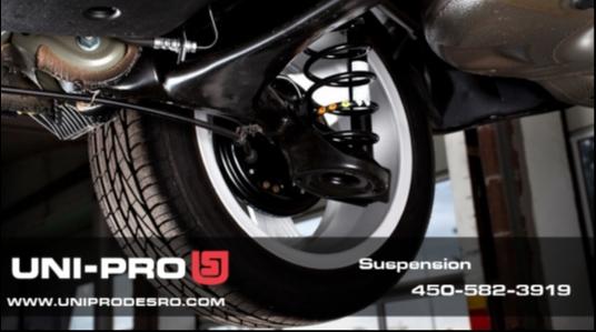 Garage UNI-PRO Atelier de mécanique Desro Inc. vente de pneus, entretien de transmission, changement d'huile, entretien complet